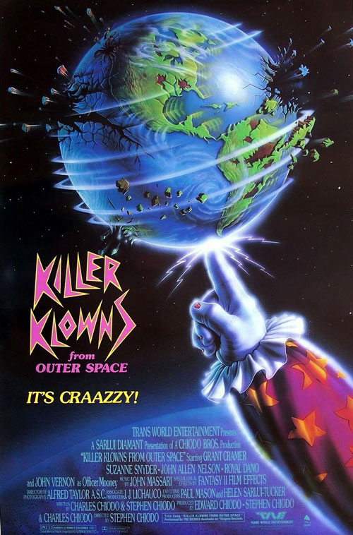 Us poster from the movie Killer Klowns from Outer Space