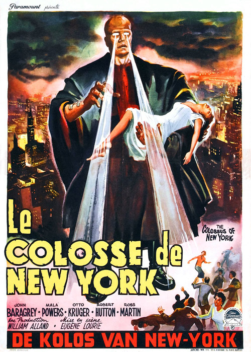 Affiche belge de 'Le colosse de New-York'