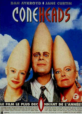 French poster from the movie Coneheads