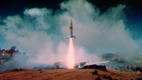 The Martian rocket takes off - Conquest of Space