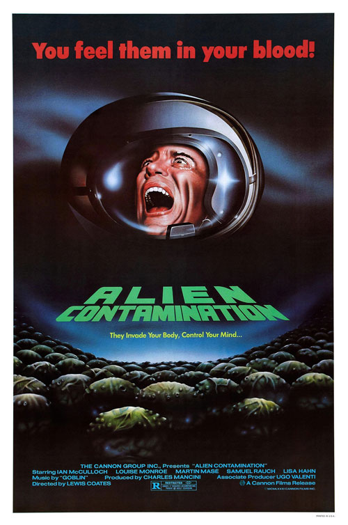 Us poster from the movie Alien Contamination (Contamination)
