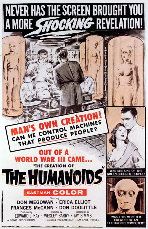 Us poster from the movie The Creation of the Humanoids