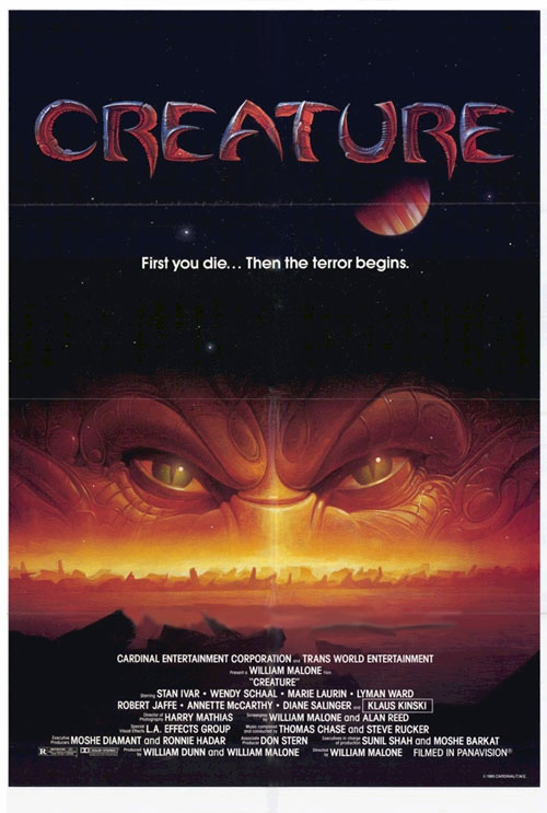 Us poster from the movie Creature