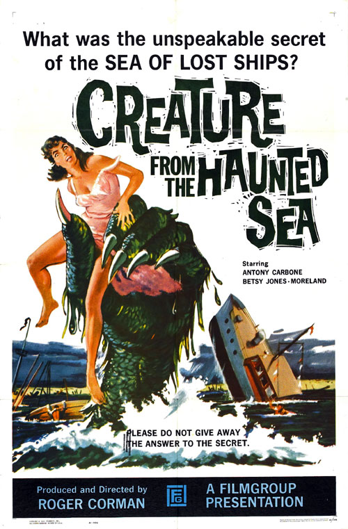 Us poster from the movie Creature from the Haunted Sea