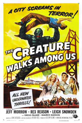 Us poster from the movie The Creature Walks Among Us