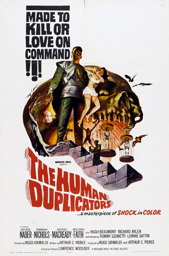 Us poster from the movie The Human Duplicators