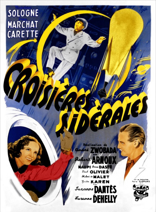 French poster from the movie Croisières Sidérales (Croisières sidérales)