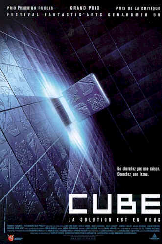 French poster from the movie Cube