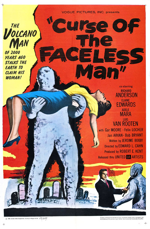 Us poster from the movie Curse of the Faceless Man