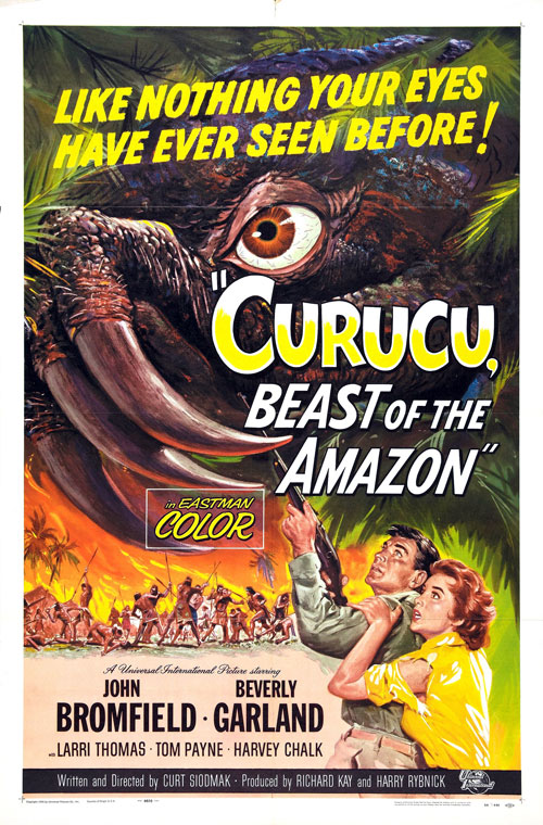 Us poster from the movie Curucu, Beast of the Amazon