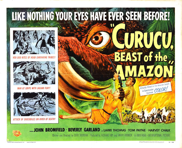 Affiche américaine de 'Curucu, Beast of the Amazon'