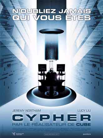 French poster from the movie Cypher