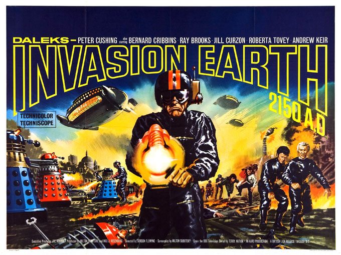 British poster from the movie Daleks Invasion Earth 2150 (Daleks' Invasion Earth: 2150 A.D.)