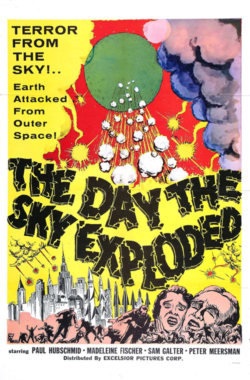 Us poster from the movie The Day the Sky Exploded (La morte viene dallo spazio)