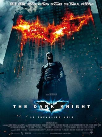 Affiche française de 'The Dark Knight, le chevalier noir'