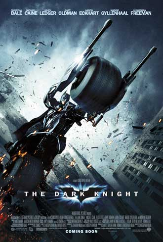 Affiche américaine de 'The Dark Knight, le chevalier noir'