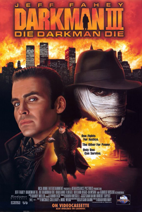 Us poster from the movie Darkman III: Die Darkman Die