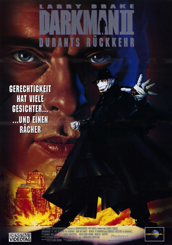 German poster from the movie Darkman II: The Return of Durant