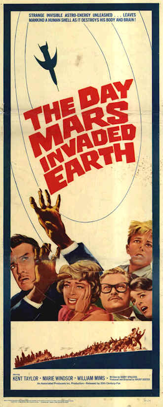 Affiche américaine de 'The Day Mars Invaded Earth'