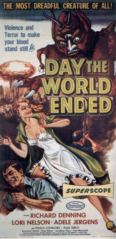 Affiche américaine de 'Day the World Ended'