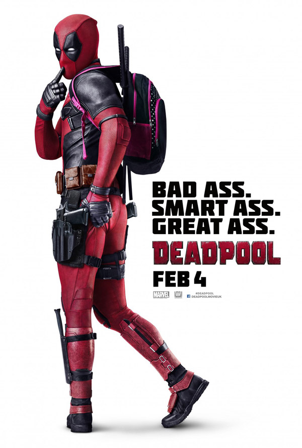 Affiche britannique de 'Deadpool'
