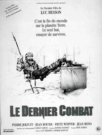 French poster from the movie The Last Battle (Le dernier combat)