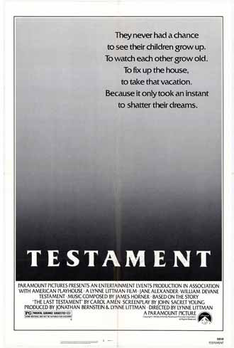 Us poster from the movie Testament