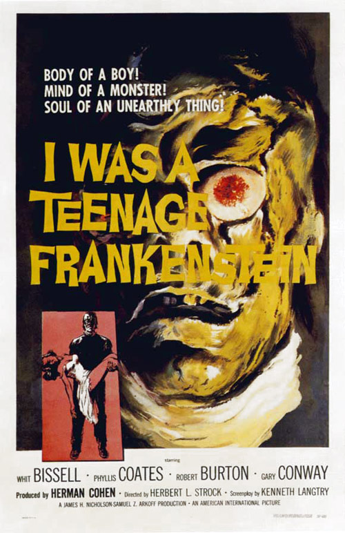 Us poster from the movie I Was a Teenage Frankenstein
