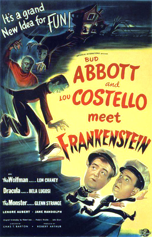 Us poster from the movie Bud Abbott Lou Costello Meet Frankenstein