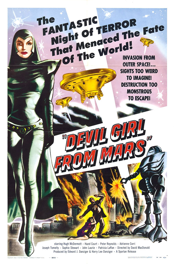 Us poster from the movie Devil Girl From Mars (Devil Girl from Mars)