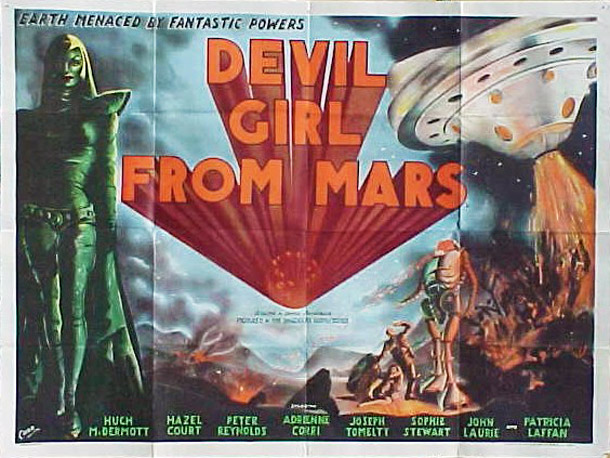 Affiche britannique de 'Devil Girl From Mars'