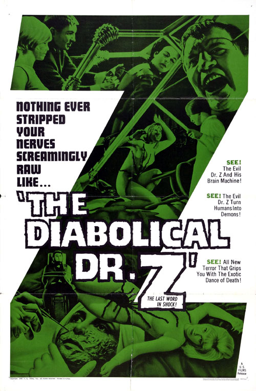 Us poster from the movie The Diabolical Dr. Z (Miss Muerte)