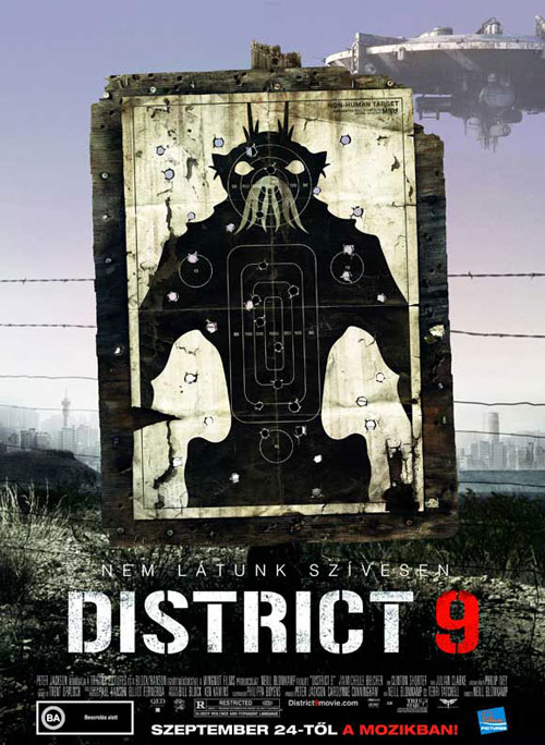 Affiche hongroise de 'District 9'
