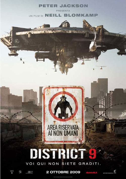 Affiche italienne de 'District 9'