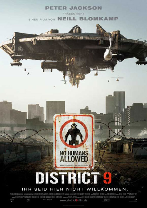 Affiche allemande de 'District 9'