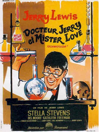 French poster from the movie The Nutty Professor