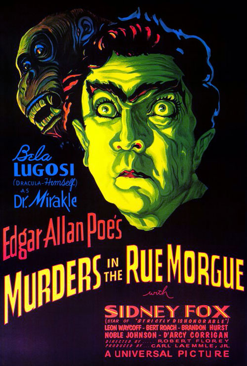 Us poster from the movie Murders in the Rue Morgue