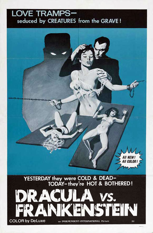 Us poster from the movie Dracula vs. Frankenstein