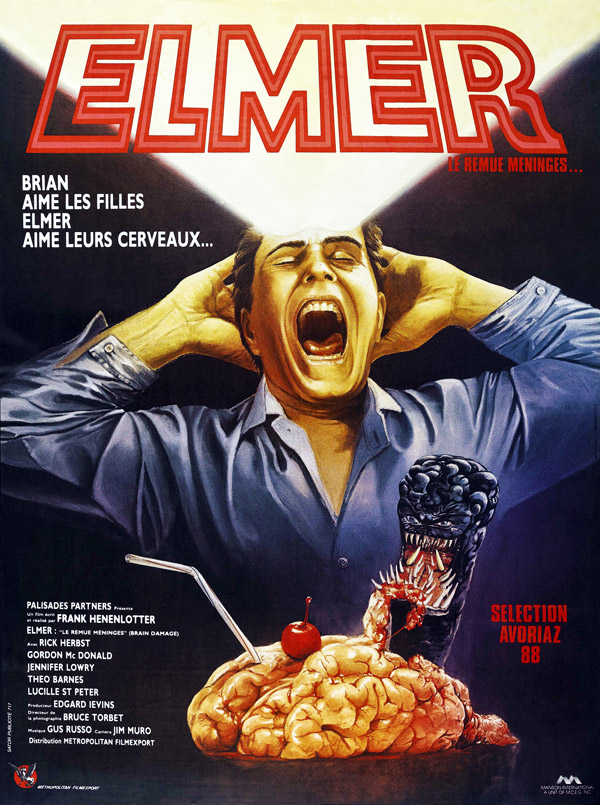 French poster from the movie Brain Damage