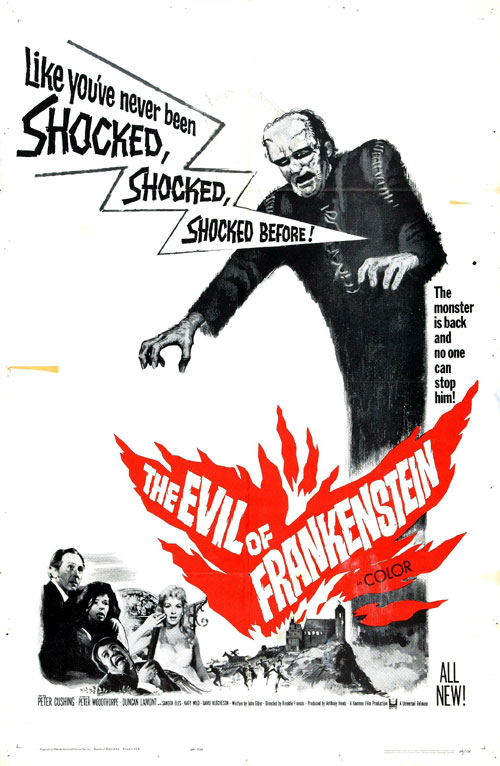 Us poster from the movie The Evil of Frankenstein