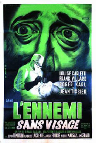 French poster from the movie L'ennemi sans visage