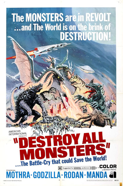 Us poster from the movie Destroy All Monsters (Kaijû sôshingeki)
