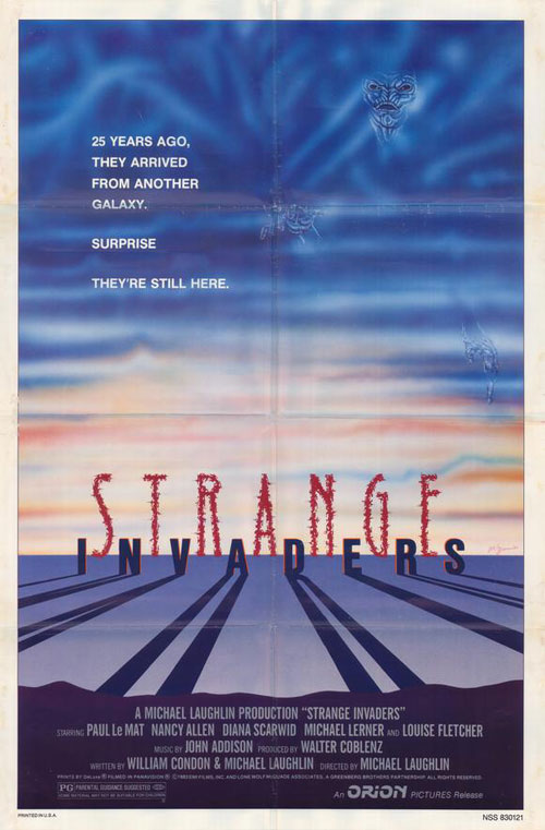 Us poster from the movie Strange Invaders