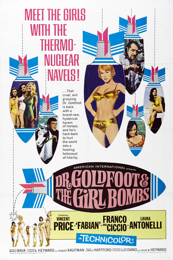 Us poster from the movie Dr. Goldfoot and the Girl Bombs (Le spie vengono dal semifreddo)