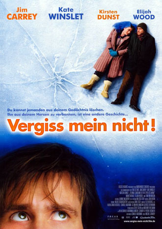 Affiche allemande de 'Eternal Sunshine of the Spotless Mind'