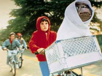 Elliott and his friends fly to bring E.T. back to his spaceship - E.T.: The Extra-Terrestrial