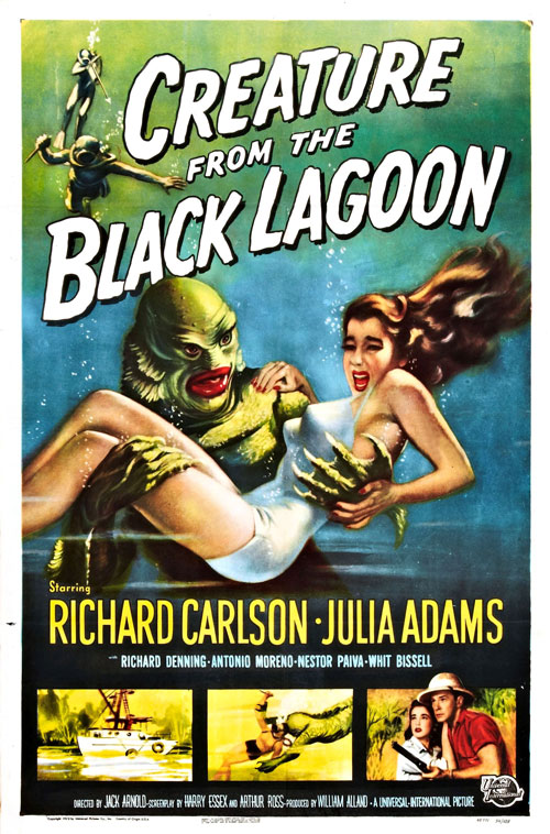 Us poster from the movie Creature from the Black Lagoon