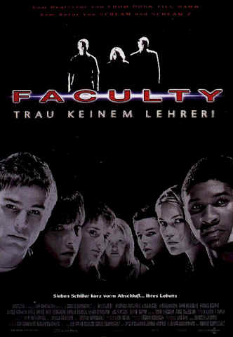 Affiche allemande de 'The Faculty'