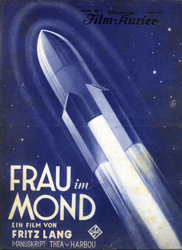 German poster from the movie Girl in the Moon (Frau im Mond)