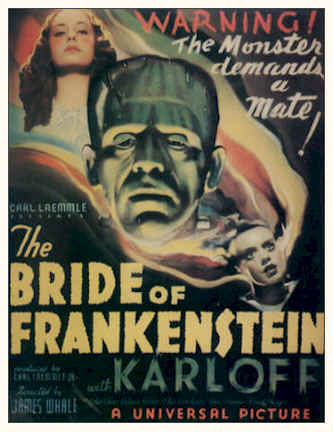 Unknown poster from the movie Bride of Frankenstein